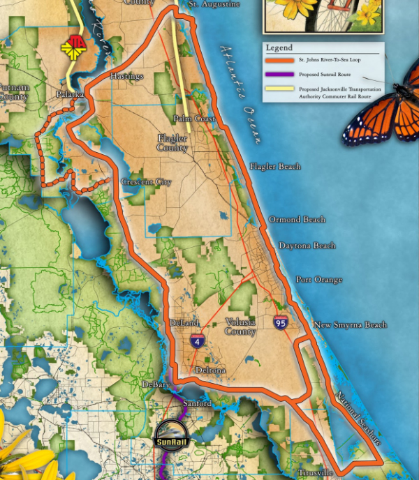 St Johns River to Sea conceptual map
