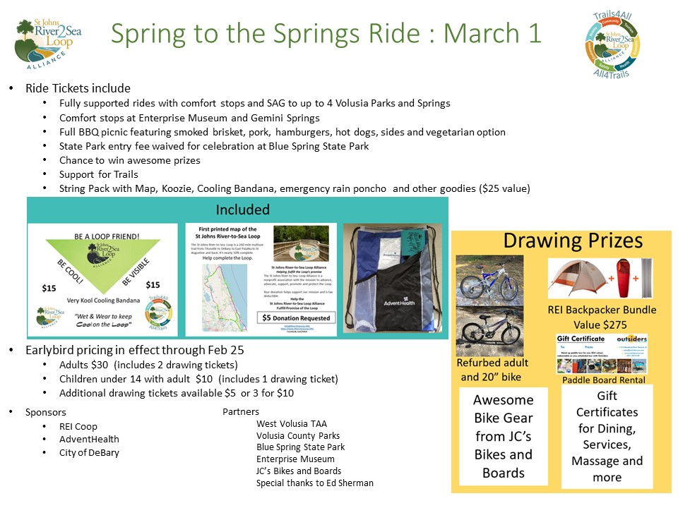 All About the Spring to the Springs Ride in West Volusia