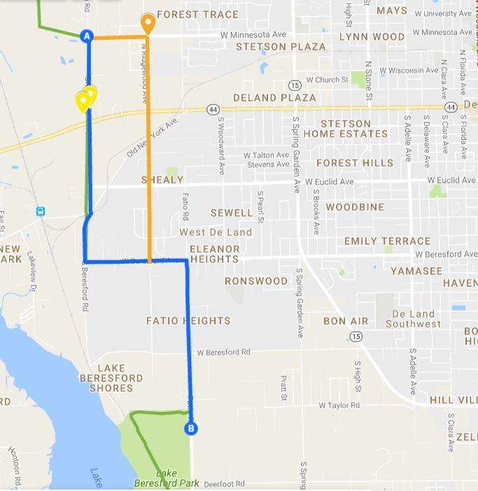 Map Of Deland Florida.News From The Roundabout North Spring To Spring Segment Update De