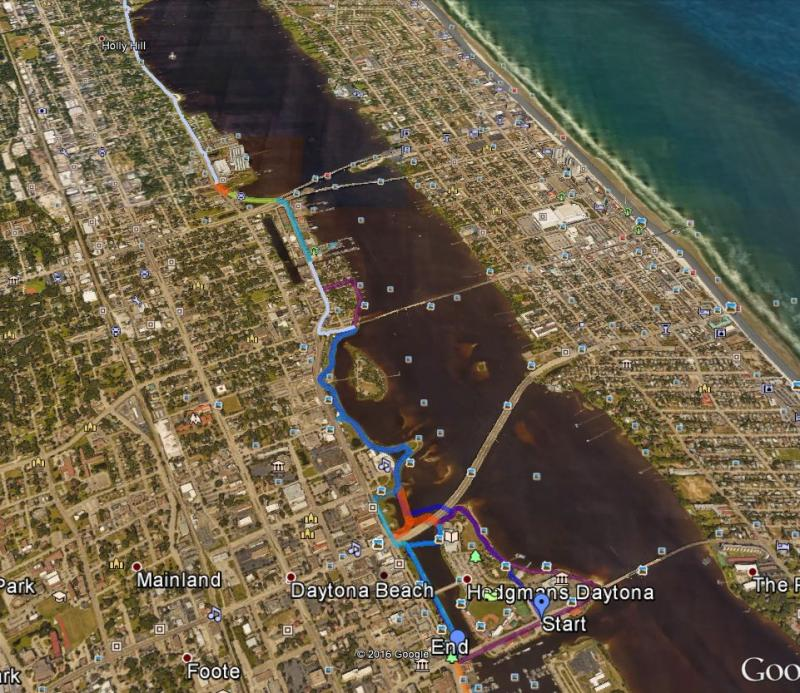 Daytona's Sweetheart Trail on the St. John's River to Sea Loop