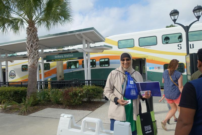 Rehanna from ISAcademy at DeBary Station