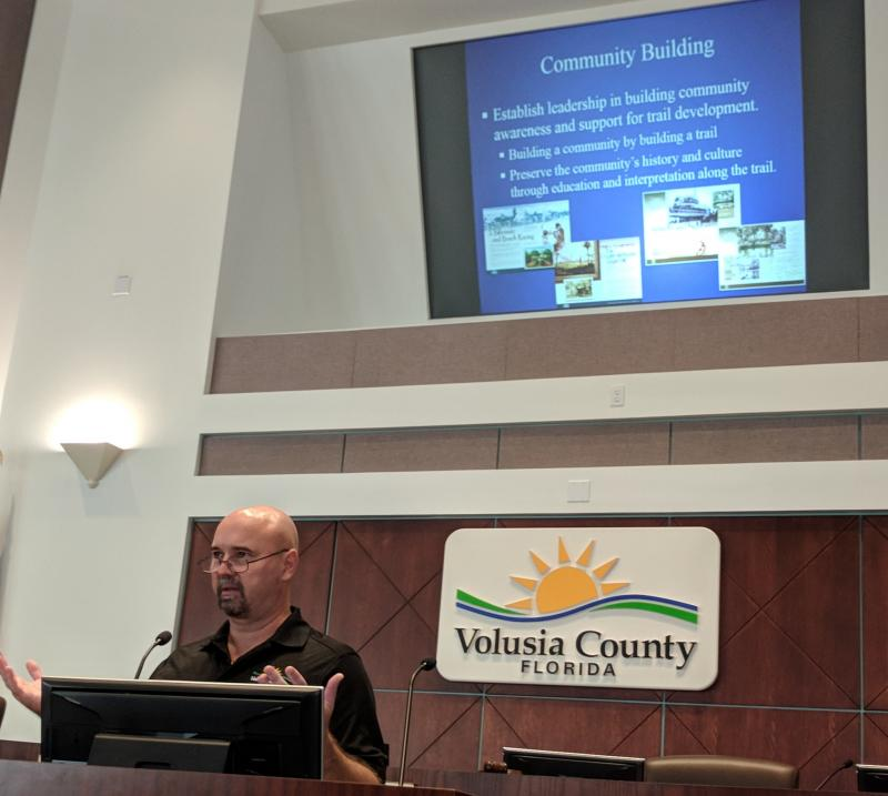 Tim Baylie Volusia County Parks on how the Loop builds community at #SJR2CSummit