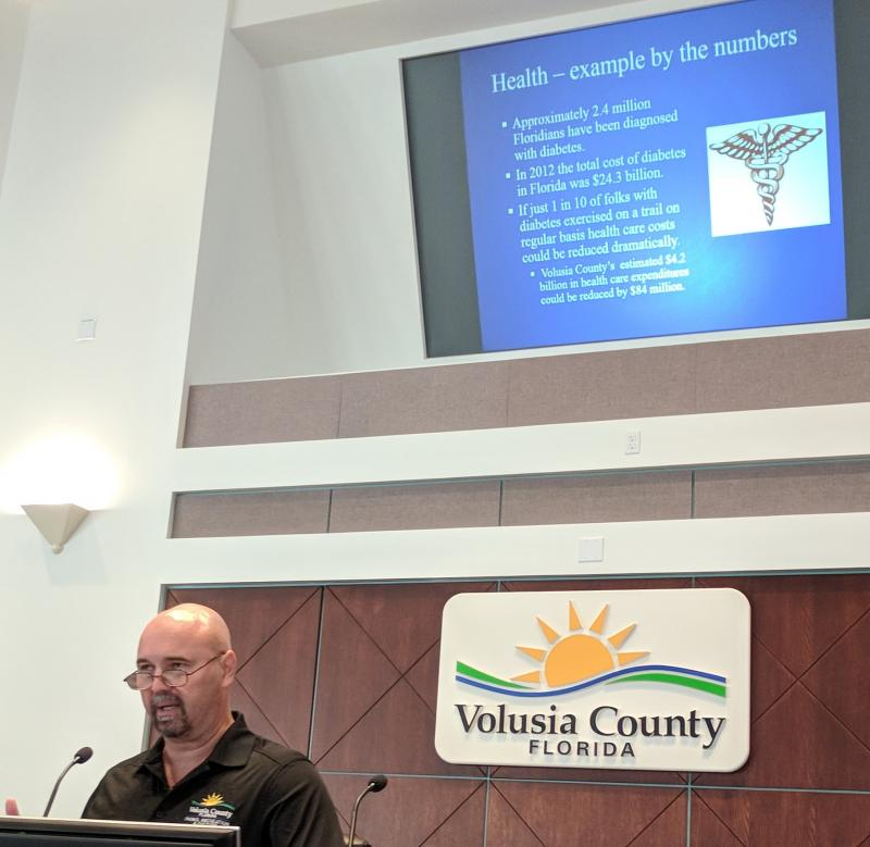 Tim Baylie Volusia County Parks on how the Loop improves health at #SJR2CSummit