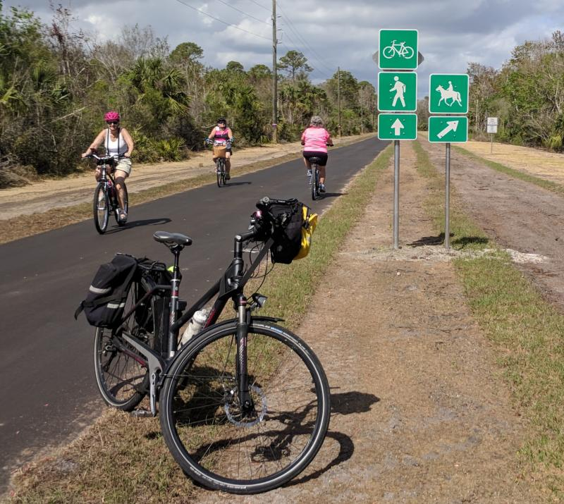 Equestrian Trail  on St Johns River-to-Sea Loop from Aurantia Rd to Volusia LIne