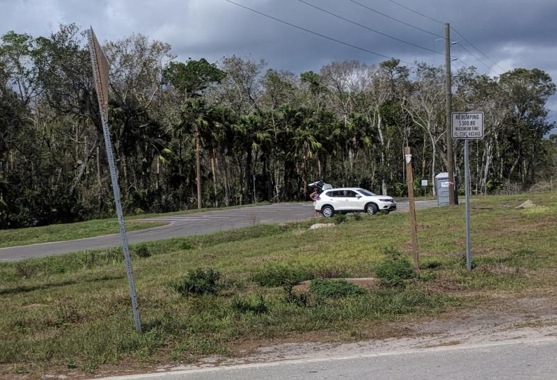 Trailhead near Equestrian Trail  on SJR2C Loop from Aurantia Rd to Volusia LIne