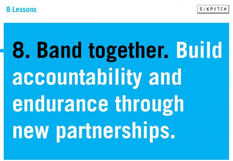 Band together - form partnerships