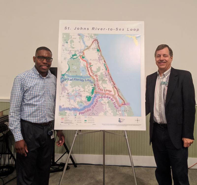 Doug Alderson and Donald Morgan from Florida Office of Greenways and Trails