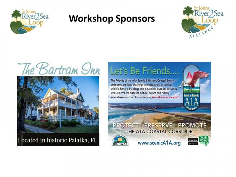 Bartram Inn and Scenic A1A  River to Sea Loop Stakeholder Workshop Sponsors