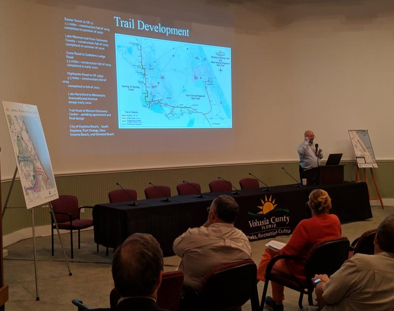 Tim Baylie of Volusia County Parks describe Loop progress