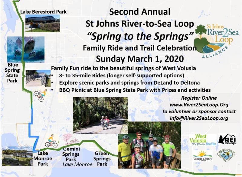 St Johns River to Sea Loop 2020 Spring Ride Volusia County March 1