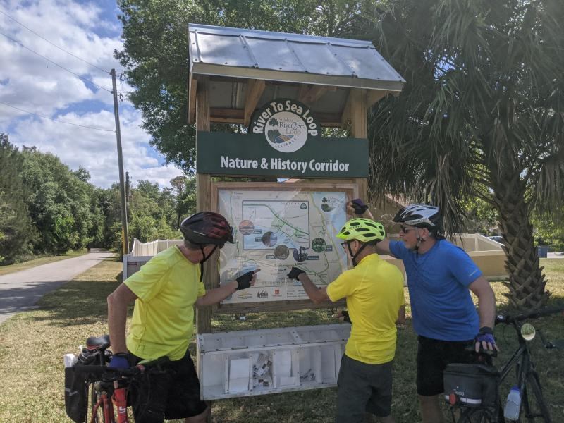 Sign Kiosk  on St Johns River to Sea Loop